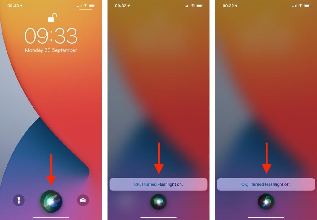 Steps to Control Flashlight on iPhone via Siri