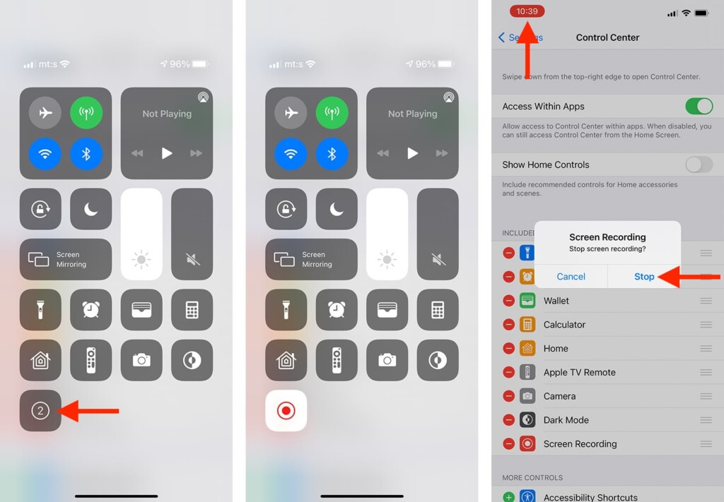 Steps to Use Screen Recording on iPhone