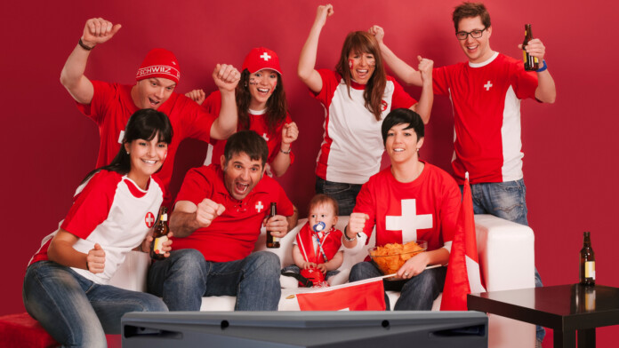 Swiss People watching TV